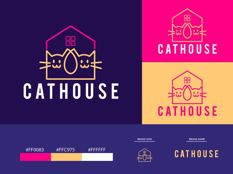 CATHOUSE Logo Design Template