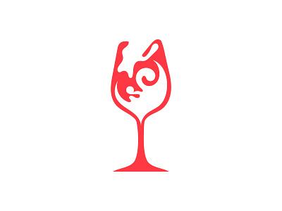 wine logo logotype logo mark graphic designer graphic  design illustration minimalist logo modern logo minimal branding icon brand identity logo designer logo design concept logo design logo wine branding wine glass wine bottle wine logo wine