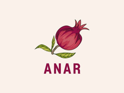 Anar web design product design minimal logo design professional logo design print abstract business minimalist logo logo design creative logo logotype modern logo logo designer illustration icon branding brand identity food and drink food logo anar logo