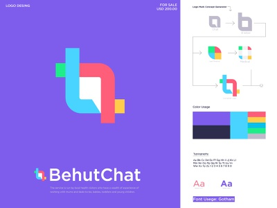 B + chat logo design icon letter logo logo mark logotype logo design logo abstract logo business creative logo professional logo minimalist logo modern logo logo designer illustration icon branding brand identity chat box chat logo b letter logo b logo