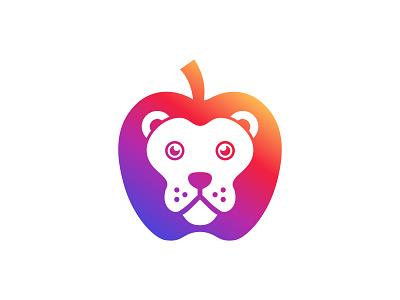 Panda Apple App icon design negative space logos logo logo design brand bears vector modern logo logo designer logo mark illustration icon branding brand identity animals animal panda apple apple bear logo panda logo