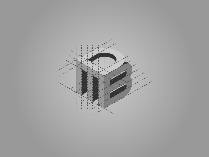 Font Logo Process classic modern business company creative letter font elegant cube 3d logo
