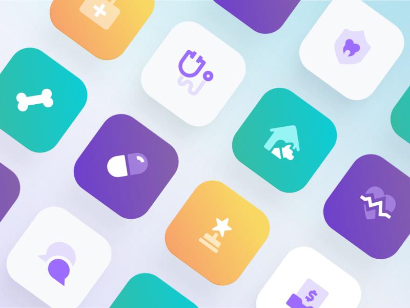 Healthcare – Icons insurance app app icon app iconset icons svg vector finance fintech illustration ui ux insurtech insurance