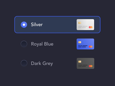 Card Theme – Switch html development design finance insurance app user interface insurtech change switch picker radio radio button motion design card animation card animation fintech ux ui