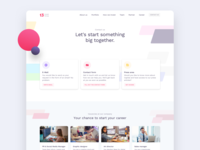 Colorful contact page exploration job listing career fintech finance investment colorful homepage web design website webdesign ux ui