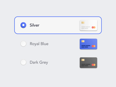 Card Theme - Switch - Light Theme selected illustration user interface ux ui radio button theme picker product design fintech app fintech design switch change card animation card app animation