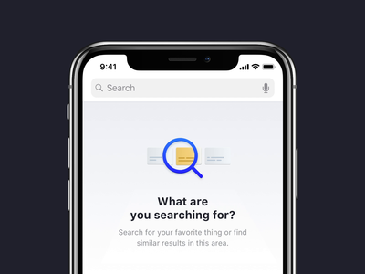 Empty state animation for search bar illustration cards zoom ios app user experience product design animation results user interface ux ui empty state search results search search bar