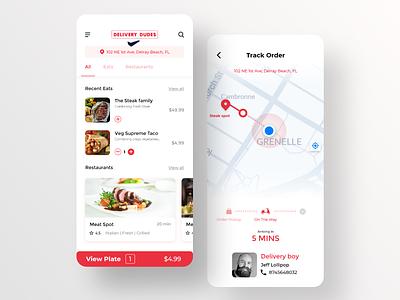 Restaurant food delivery dudes food ui food app ui uiux dailyui app design food app design minimal food delivery delivery food food app restaurant