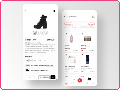 Ecommerce Shopping App beauty price coupon offer ui products cart shopping cart buy ios shopping app shopping alibaba aliexpress shopify ecommerce app ecommerce