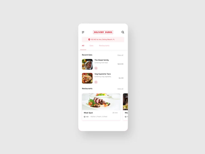 A simple food app app animation food and drinks uiux userinterface food app ui food app animation simple ui mobile app food delivery food app