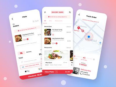 A simple food app app animation food and drinks uiux userinterface food app ui food app animation simple ui mobile app food delivery food app