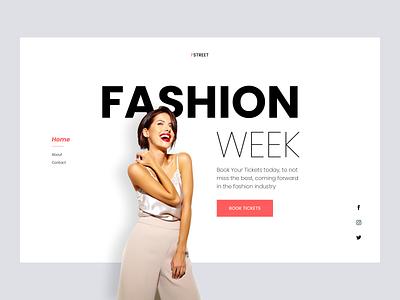 Fashion event concept design clean designui makeup clothing cloth style book event women fashion