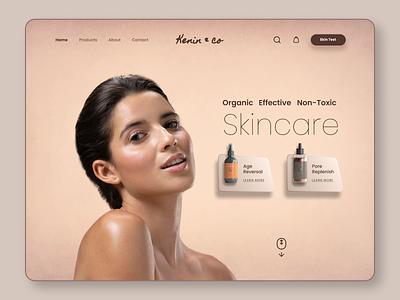 Skincare Website Landing Page design website landing ux ui women makeup cosmetic dermatology skin skincare beauty skin care