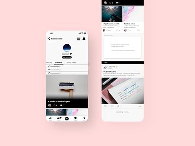 Amino Lite app - part 3 uidesign uiux connect mobile community inspiration clean concept app activity