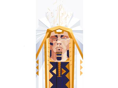 Joseph portrait art illustrator egyptian dream bible joseph portrait illustration