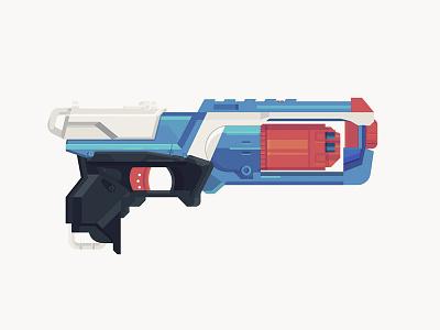 Nerf Gun fun colors pop gun nerf illustration