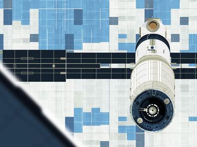 Satellite simple illustrator satellite nasa