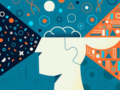 Poster geometrical simple illustration mind poster