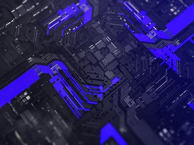 Machines vray textures black blue details c4d 3d