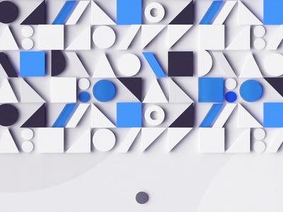 Shapes vray black blue minimal simple geometrical shapes c4d