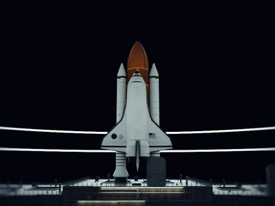 LAUNCH 3d art 2019 space shuttle octane c4d 3d nasa
