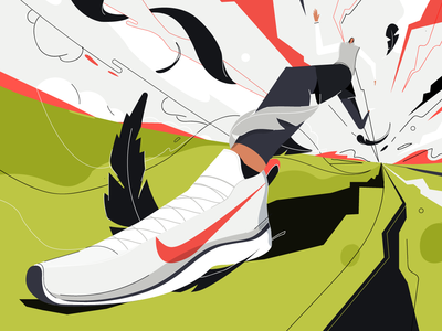 Feather cincinnati nike running running illustrator feather nike athletic perspective shoes illustration