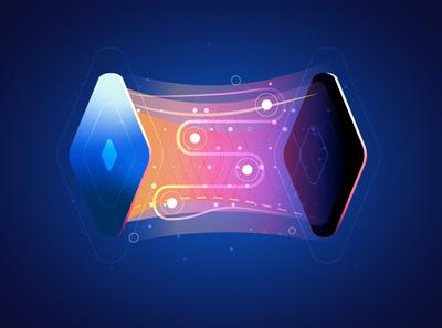 App Connection ux blue vector ui design animation details illustrator illustration
