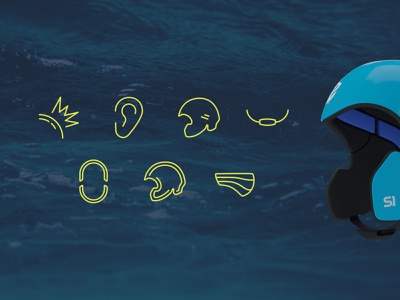 Simba Surf Icons clean simple helmet surf vector iconography illustration icons ecommerce design graphic design