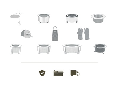 Breeo Website Redesign Icons apron gloves hat fire grills grilling illustration vector iconography icons design graphic design