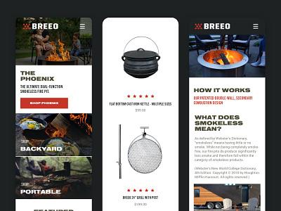 Breeo Website Redesign Mobile ux ui mobile responsive website shopify ecommerce design web design graphic design