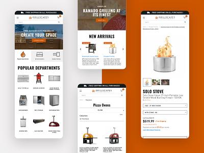 Grillscapes - Website Design mobile ux ui website shopify ecommerce design web design graphic design