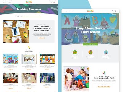 HeidiSongs 123s abcs singing educational learning website shopify ecommerce design web design graphic design