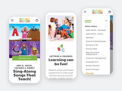 HeidiSongs -  Mobile responsive ui ux mobile website shopify ecommerce design web design graphic design