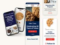 Pacific Cookie Company - Mobile mobile responsive website shopify ecommerce design web design graphic design