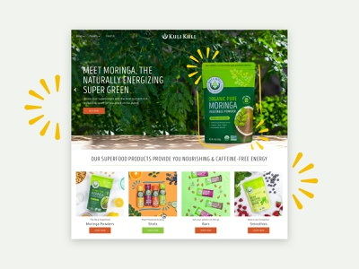 Kuli Kuli - Website Redesign mobile superfood food health moringa website shopify ecommerce web design graphic design