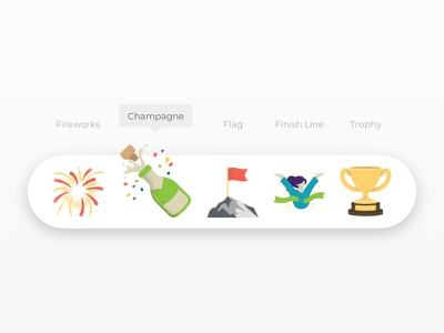 SupplyShift - Emojis trophy flag champagne fireworks emojis emoji vector icons illustration