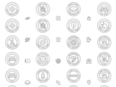 Pillow Guy - Icon Set illustrations icons