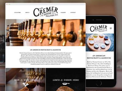 The Cremer House Website + Logo