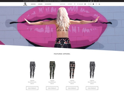 Calyx Apparel active wear tights leggings sustainable sacred geometry shopify plus fashion  shopify ecommerce