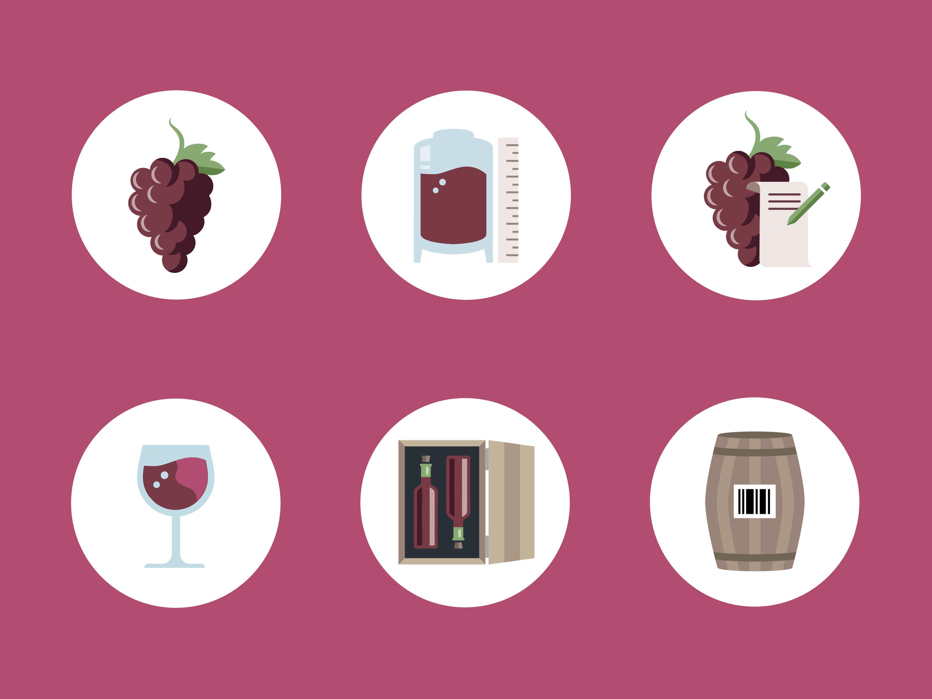 Wine module icons