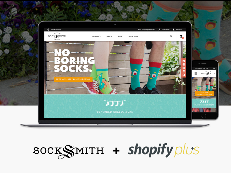 Socksmith Shopify Plus Build shopify plus web design shopify website fashion socks