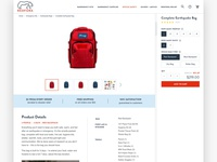 Earthquake Bag Product Page