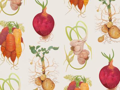 Wild Roots - Veggie Paintings