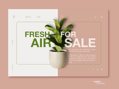 Online Shopping Landing Page - Concept Design