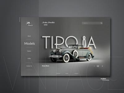 Vintage Cars-User Interface Inspirational Design