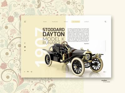 Vintage Cars 2 - User Interface Inspirational Design