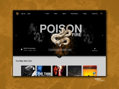 OTT media services - Landing page inspirational design