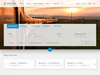 IRCTC Website - Study and REDESIGN Concept