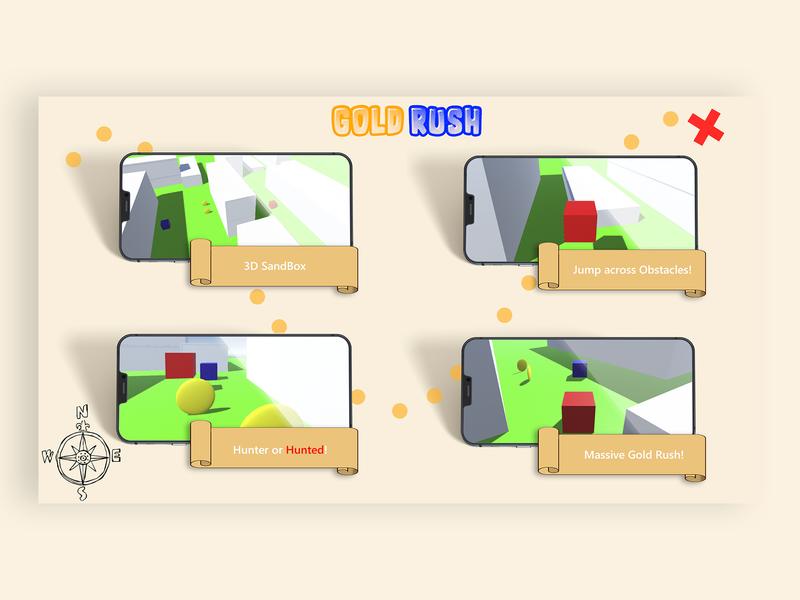 Unity Project: GoldRush illustration logo product game design ux ui photoshop design