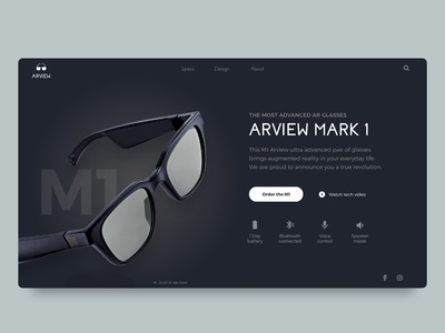 👓 Arview M1 - Augmented reality concept